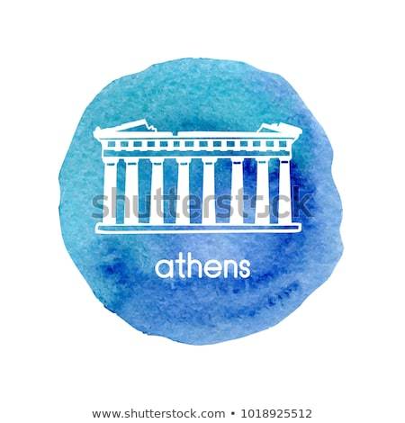 Acropolis in Athens hand drawn outline doodle icon. Stock photo © RAStudio