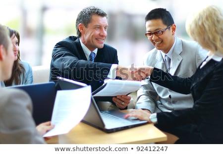 Internationale bedrijfsleven overeenkomst partners vector Stockfoto © robuart