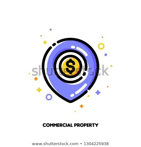 Ikon térkép tő arany érme kereskedelmi Stock fotó © ussr