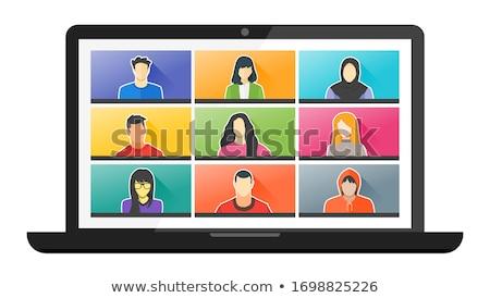 działalności · wektora · dwie · osoby · rozwiązać - zdjęcia stock © robuart