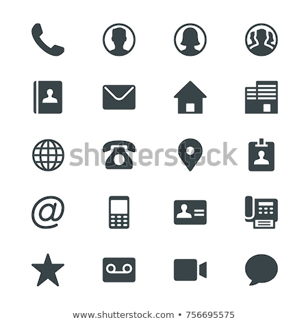 Web Contact Vector Icon Set Stock photo © Fred