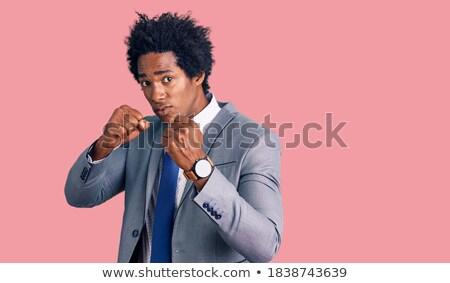 sterke · man · hand · springen · sport · succes - stockfoto © Andreyfire