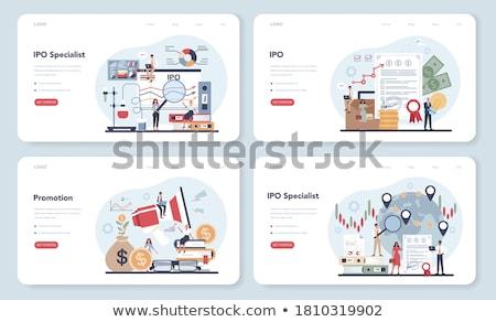 Onderneming investering landing pagina financiering Stockfoto © RAStudio