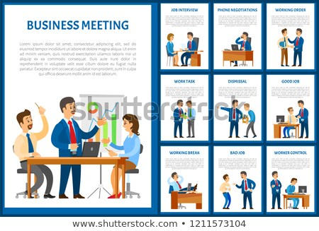 Réunion d'affaires travail ordre téléphone négociations conférence Photo stock © robuart