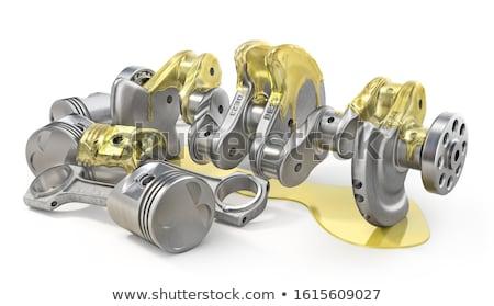 Engine pistons and crankshaft on white background. Isolated 3d i Stock photo © ISerg
