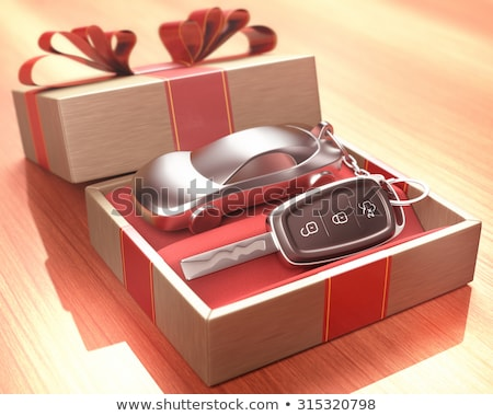 car gift, transport tied with festive ribbons Stock photo © studiostoks