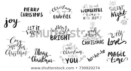 Schriftart Design Wort Weihnachten Illustration Stock foto © colematt