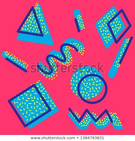 Resumen geométrico ilustración 80s brillante estilo Foto stock © tashatuvango