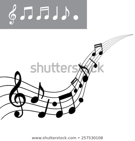Music notes on line scales Stock photo © colematt