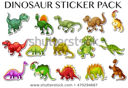 Different designs with many dinosaurs Stock photo © colematt