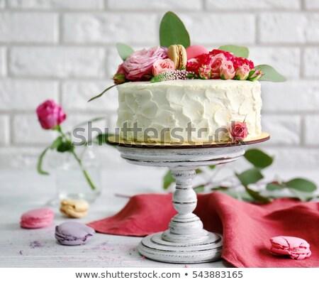Tatlı kremsi kekler Paskalya dekorasyon çikolata Stok fotoğraf © grafvision