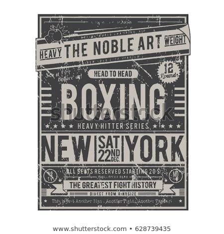 color vintage boxing poster stock photo © netkov1