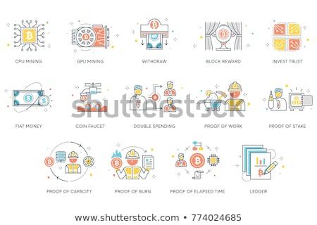 moneda · grifo · icono · vector · aislado · blanco - foto stock © smoki