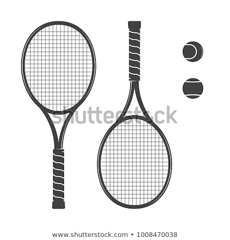 Tennis racquets with ball Stock photo © biv