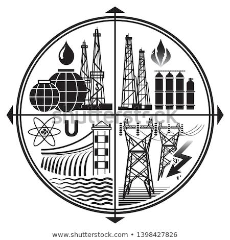 olie · logo · symbool · mijnbouw · werken · dienst - stockfoto © glasaigh