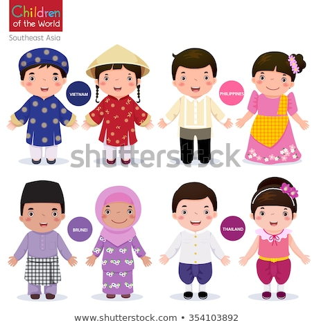 Set of filipino boy character Stock photo © bluering