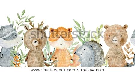 Object cute grens illustratie baby kinderen Stockfoto © colematt