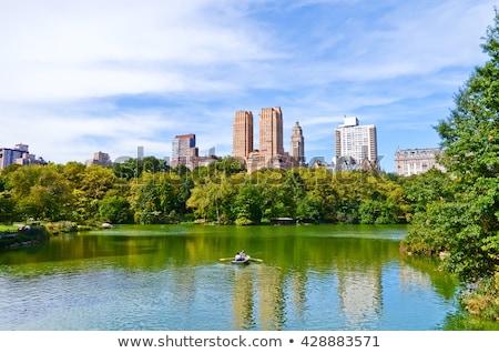 ローイング セントラル·パーク 湖 ニューヨーク 夏 午後 ストックフォト © jsnover