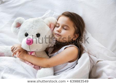 Nina dormir noche ilustración nino estudiante Foto stock © colematt