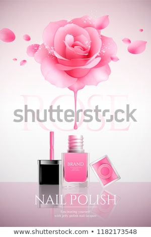 Bottle Of Rose Nail Polish Product Poster Vector Stock photo © pikepicture