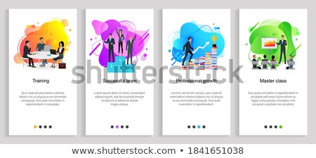 visão · desenvolvimento · progresso · fluxo · de · trabalho · meta · estratégia · de · negócios - foto stock © robuart