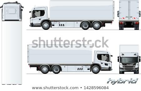Vektör kargo kamyon nesil melez motor Stok fotoğraf © mechanik