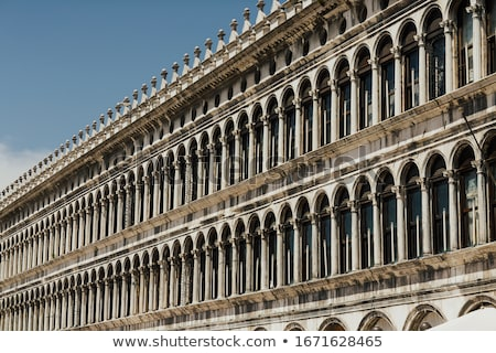 Details and arches at of facade at San Marco square in Venice Stock photo © vapi