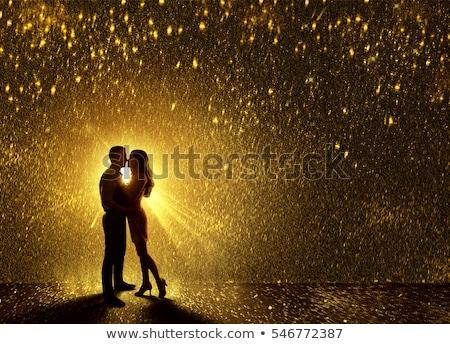 romantische · strand · bruiloft · zonsondergang · gelukkig - stockfoto © lopolo
