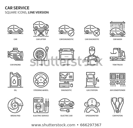 Conditioner Repair Cleaning Vector Thin Line Icon Stock photo © pikepicture