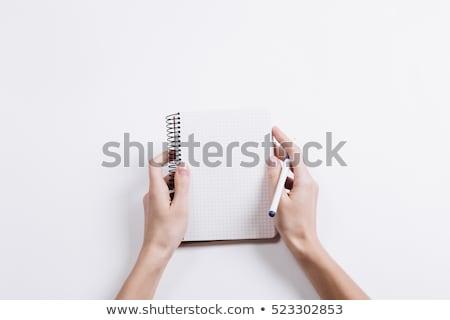 стороны молодые студент пер пустая страница Дать Сток-фото © pressmaster