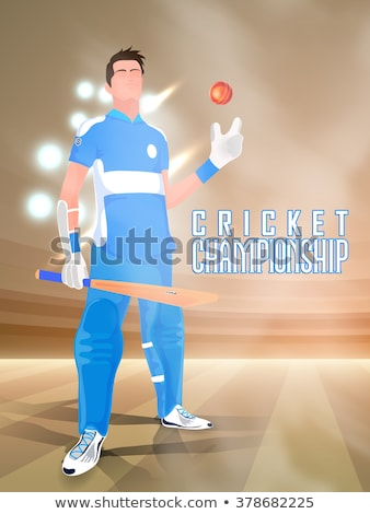 Cricket Players Team of Characters with Bats Balls Stock photo © robuart