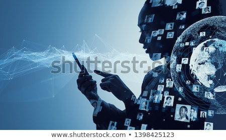 Kunstmatig virtueel realiteit analytics technologie isometrische Stockfoto © frimufilms