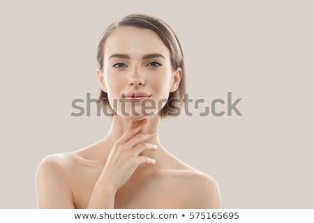 Szépség női arc portré gyönyörű fürdő modell Stock fotó © serdechny
