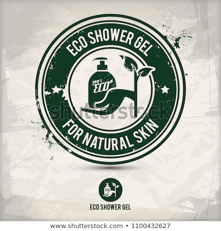 alternative eco friendly shower gel stamp Stock photo © szsz