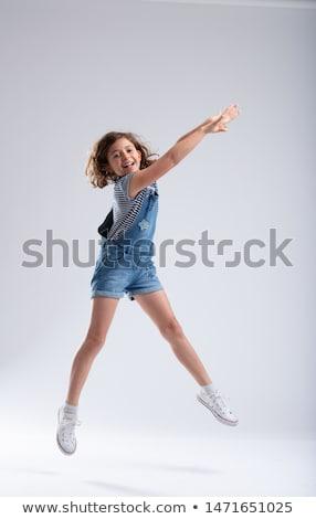 Gracioso menina brasão little girl alto Foto stock © Giulio_Fornasar