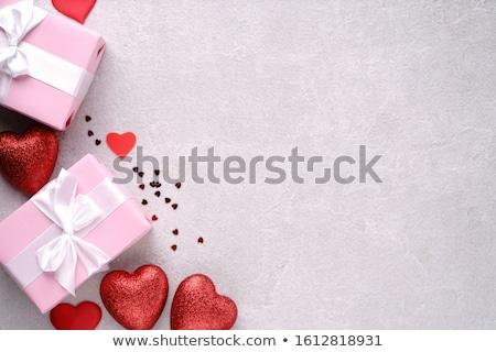 nyitva · üres · doboz · szív · alak · ajándék · valentin · nap - stock fotó © masay256