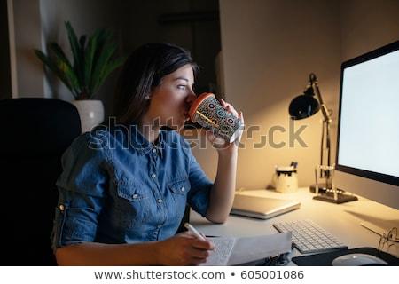 предпринимателей · питьевой · кофе · два · бизнеса · женщины - Сток-фото © dolgachov
