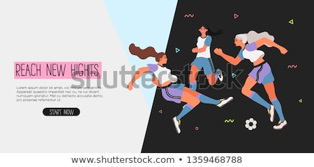 People Training, Sport Landing Page, Hobby Vector Stock photo © robuart