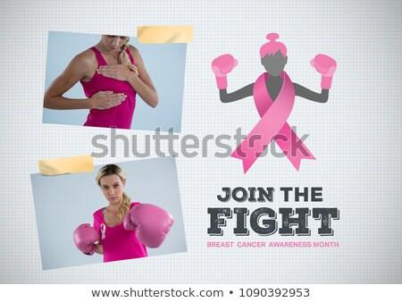 戦う 文字 乳癌 認知度 写真 コラージュ ストックフォト © wavebreak_media