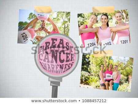 Рак молочной железы осведомленность текста фото коллаж Сток-фото © wavebreak_media