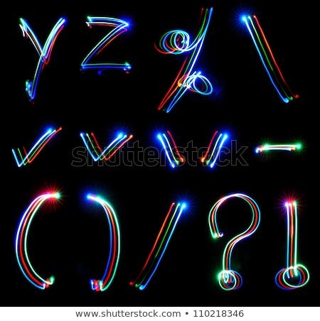 Grafik neon bilgisayar tanıtım iş Internet Stok fotoğraf © Anna_leni