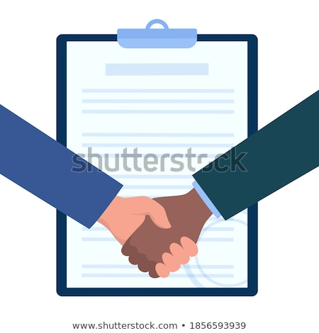 Employment agreement concept landing page Stock photo © RAStudio