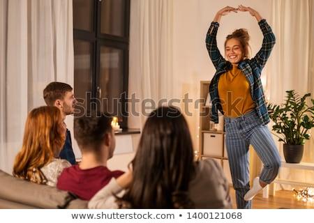 幸せ 友達 演奏 ホーム 友情 ストックフォト © dolgachov