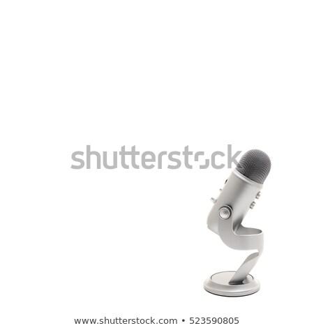 fényes · média · gombok · gyűjtemény · szett · rádió - stock fotó © blotty