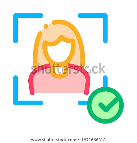 Stockfoto: Woman Winner Human Talent Icon Vector Illustration