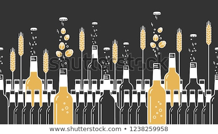 Craft beer linear seamless pattern Stock photo © barsrsind