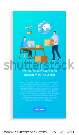 Wereldwijd levering detailhandel boekje vector Stockfoto © robuart