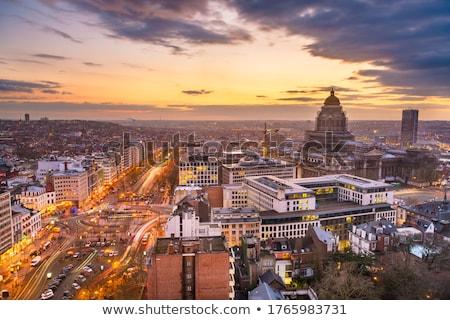 Brüsszel sziluett égbolt ház épület kék Stock fotó © Mark01987