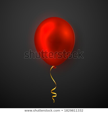 Realistic yellow, red and blue balloons on transparent background with shadow. Shine helium balloon  Stock photo © olehsvetiukha
