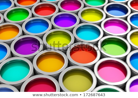 Rainbow colors, Group of tin metal cans Stock photo © JanPietruszka